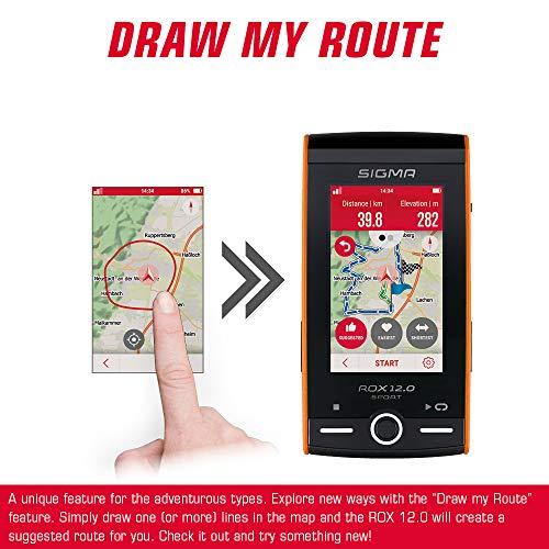 SIGMA SPORT ROX 12.0, GPS Fahrradcomputer mit Kartennavigation und Farbdisplay - 8