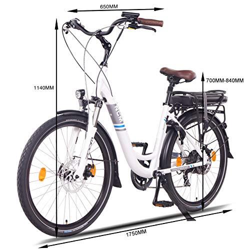 NCM Munich 26″ E-Bike City Rad, 250W, 36V 13Ah 468Wh weiß - 3