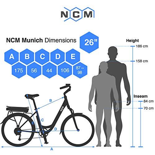 NCM Munich 26″ E-Bike City Rad, 250W, 36V 13Ah 468Wh weiß - 8