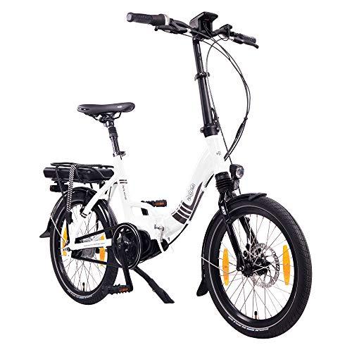 """NCM Paris MAX N8R / N8C E-Bike, E-Faltrad, 250W, 36V 14Ah 504Wh Akku, 20"""" Zoll (Weiß mit Rücktrittbremse (N8C)"""