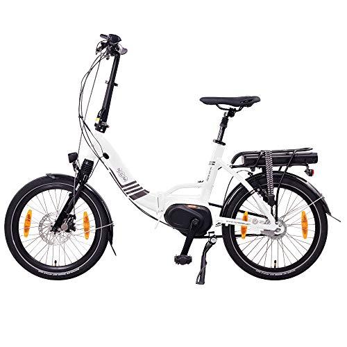 """NCM Paris MAX N8R / N8C E-Bike, E-Faltrad, 250W, 36V 14Ah 504Wh Akku, 20"""" Zoll (Weiß mit Rücktrittbremse (N8C) - 5"""