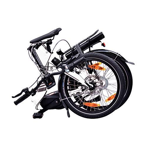"""NCM Paris MAX N8R / N8C E-Bike, E-Faltrad, 250W, 36V 14Ah 504Wh Akku, 20"""" Zoll (Weiß mit Rücktrittbremse (N8C) - 6"""