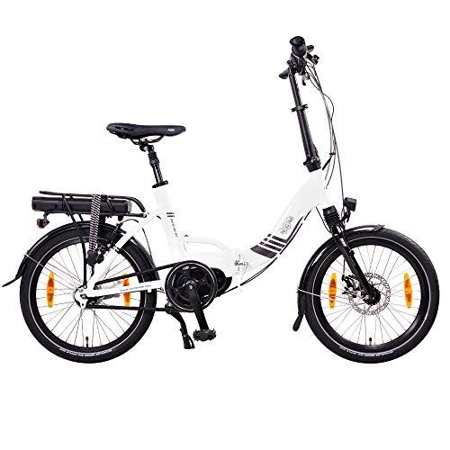"""NCM Paris MAX N8R / N8C E-Bike, E-Faltrad, 250W, 36V 14Ah 504Wh Akku, 20"""" Zoll (Weiß mit Rücktrittbremse (N8C) - 2"""