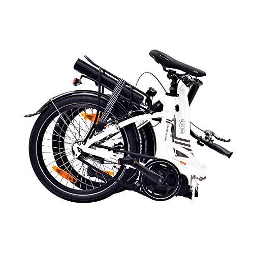 """NCM Paris MAX N8R / N8C E-Bike, E-Faltrad, 250W, 36V 14Ah 504Wh Akku, 20"""" Zoll (Weiß mit Rücktrittbremse (N8C) - 4"""