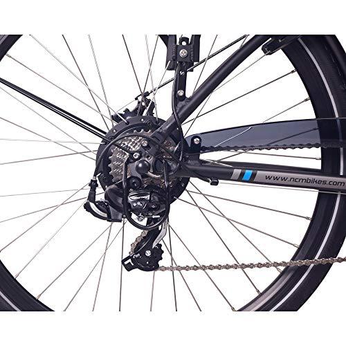 "NCM Hamburg E-Bike City Rad, 250W, 36V 13Ah 468Wh Akku, 28"" Zoll (28″ Schwarz) - 5"